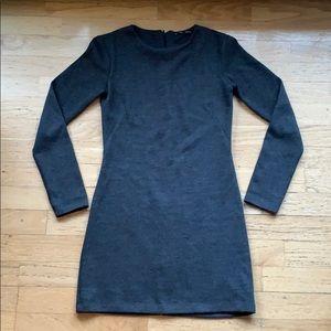 Zara / Grey Long Sleeve Sweater Dress